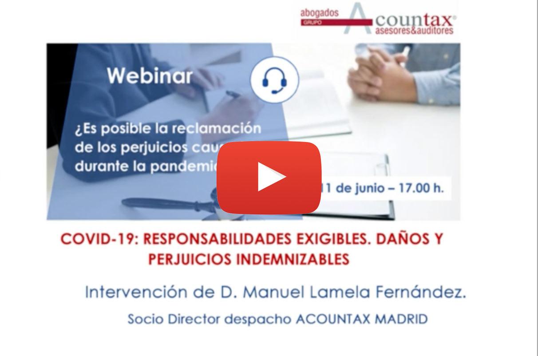 Webinar de Acountax del día 11 de Junio con la participación de Manuel Lamela